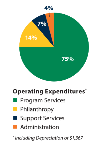 Fall 2016 organization expenditures pie chart