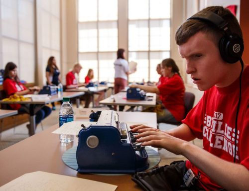 Students from around the country compete in the national braille competition at USC