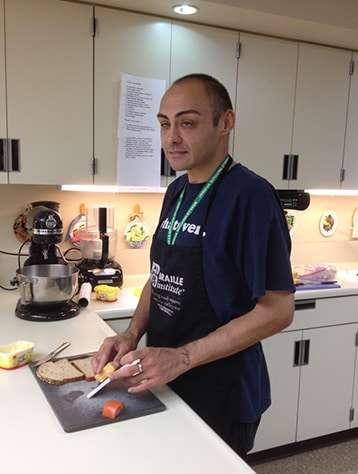 Joseph N preparing food