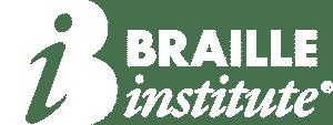 Braille Institute Logo White