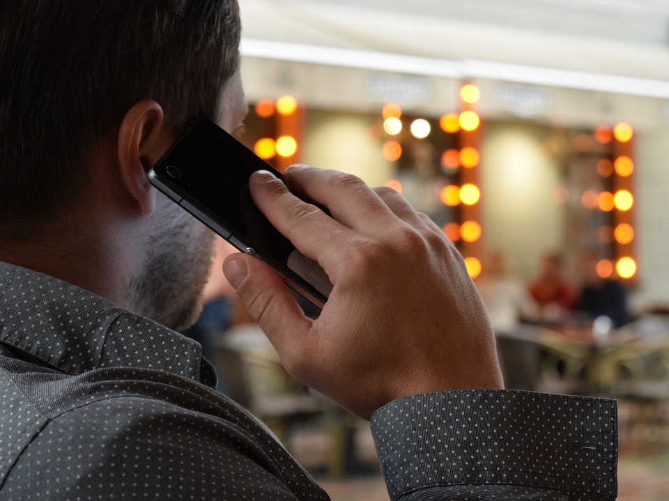 Man holding a phone to his ear
