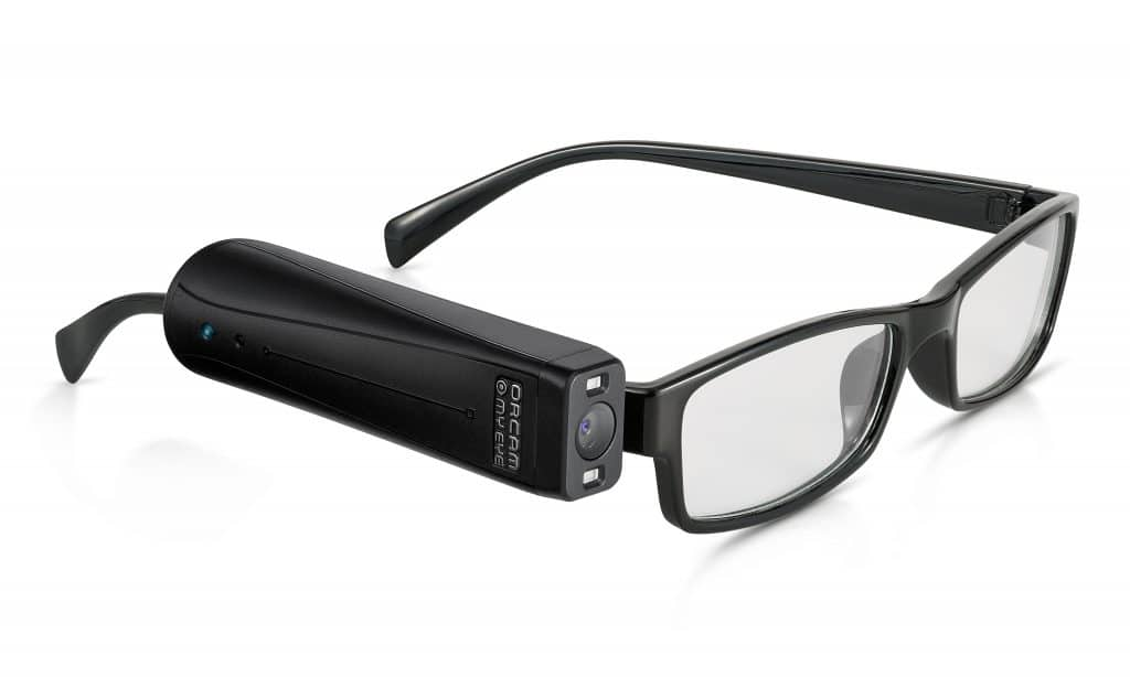 Image of OrCam wearable artificial vision device
