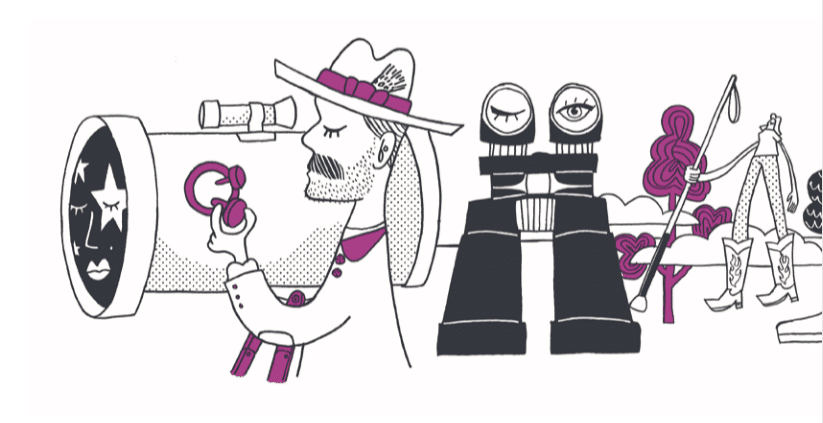 Graphic Art of explorers