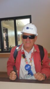 Photo of Jerry in hardhat.