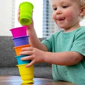 Toddler stacking Suction-Kupz.